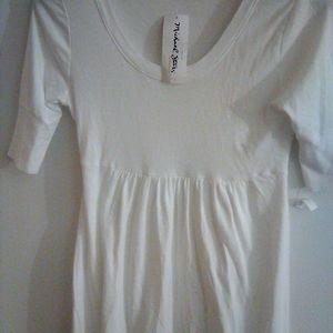 Michael Stars White Maternity T-shirt New